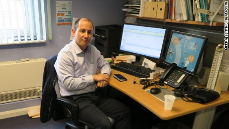 Steve Mowle works at the Hetherington Group Practice in London, contacting 50 patients, on average, each day.