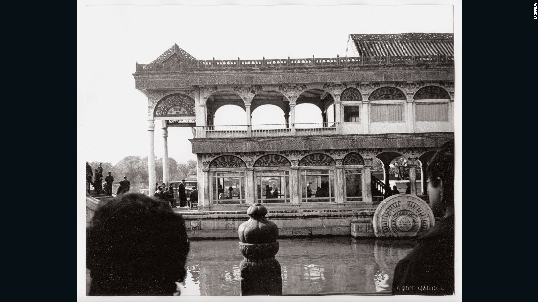 Warhol was famous in the western world during the time of his China visit, but was rarely recognized as a celebrity during the trip, allowing him to take photos such as this temple shot largely undisturbed.