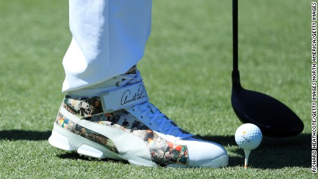 ORLANDO, FL - MARCH 16:  A detail of the shoes of Rickie Fowler of the United States during the first round of the Arnold Palmer Invitational Presented By MasterCard on March 16, 2017 in Orlando, Florida.  (Photo by Richard Heathcote/Getty Images)
