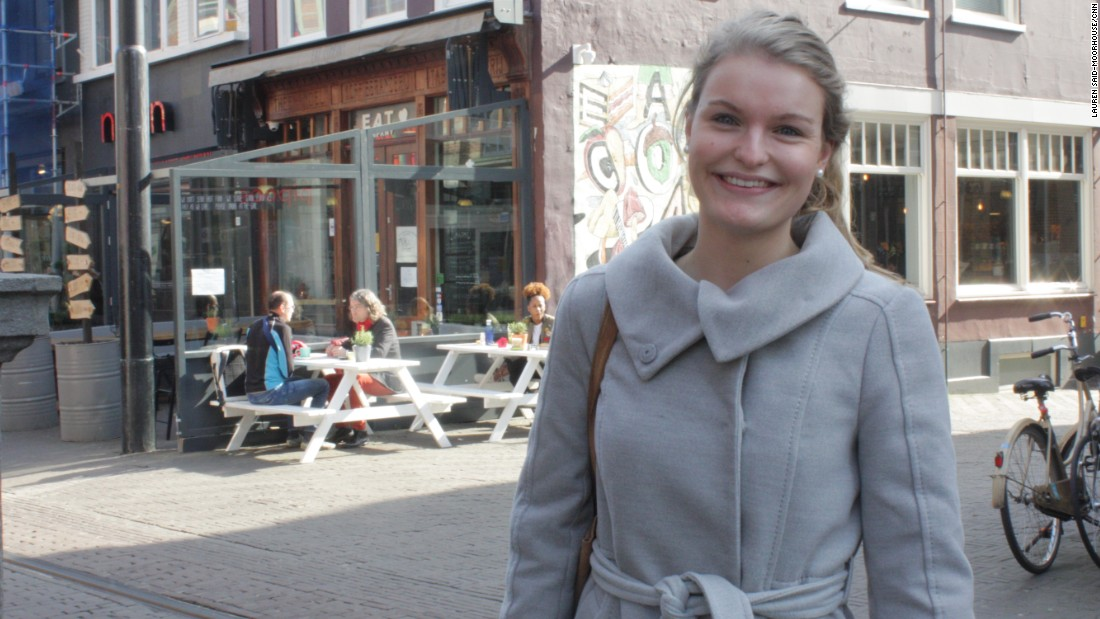 Simone Langelaan, 22, voted for the Greens.
