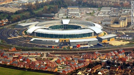 Government Communications Headquarters (GCHQ) in Cheltenham, England.