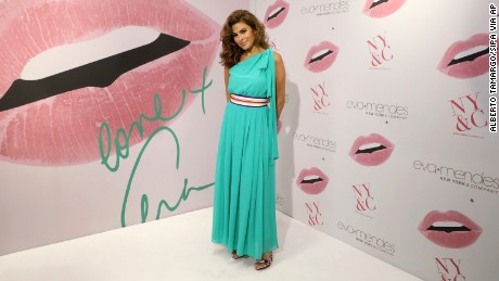MIAMI, FL - MARCH 16: Actress Eva Mendes is seen celebrating the New York & Company store opening at Dadeland Mall in Miami on March 16, 2017 in Miami, Florida. *** Please Use Credit from Credit Field ***(Sipa via AP Images)