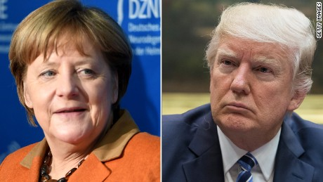 Trump stands by wiretapping claim during Merkel visit