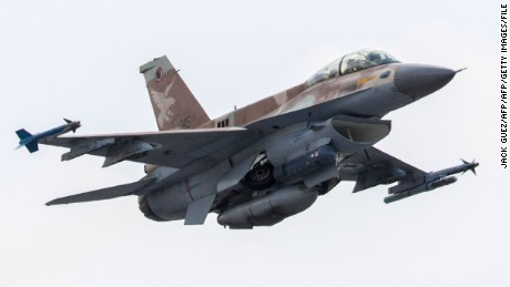A picture taken on June 28, 2016 shows an Israeli Air Force F-16 D fighter jet taking off at the Ramat David Air Force Base located in the Jezreel Valley, southeast of the Israeli port city of Haifa.   / AFP / JACK GUEZ        (Photo credit should read JACK GUEZ/AFP/Getty Images)