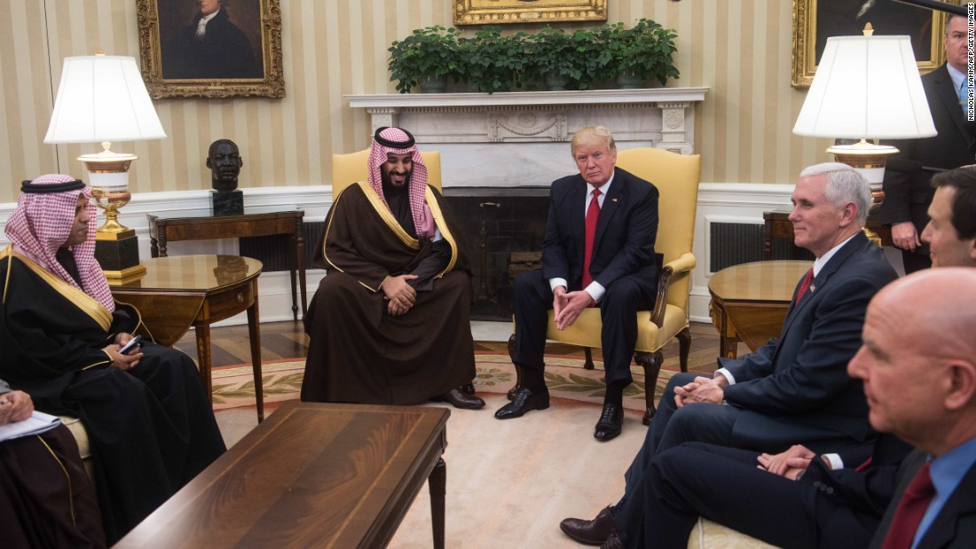 "President Trump meets with Saudi Deputy Crown Prince Mohammed bin Salman in the White House Oval Office on Tuesday, March 14. Saudi officials are heralding a new era in relations after watching their stock tumble in Washington under the Obama administration. And the Trump White House <a href=""http://www.cnn.com/2017/03/17/politics/trump-saudi-arabia-relationship-reset/"" target=""_blank"">is signaling a strengthened partnership</a> as it begins to reshape US involvement in the Middle East."