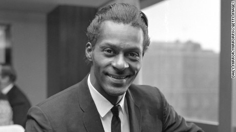 American Rhythym and Blues singer Chuck Berry at a press reception in London November 1964 (Photo by Daily Mirror/Mirrorpix/Mirrorpix via Getty Images)