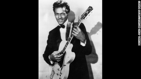 "Chuck Berry, shown in 1958, hit the charts with ""Maybellene"" in 1955."