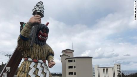 The mythical ogre, the namahage.