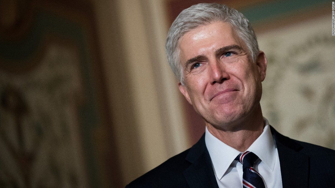 "Judge <a href=""http://www.cnn.com/2017/02/03/us/neil-gorsuch-fast-facts/"" target=""_blank"">Neil Gorsuch</a> is President Donald Trump's nominee to fill the Supreme Court vacancy left by Antonin Scalia, who died in February 2016."