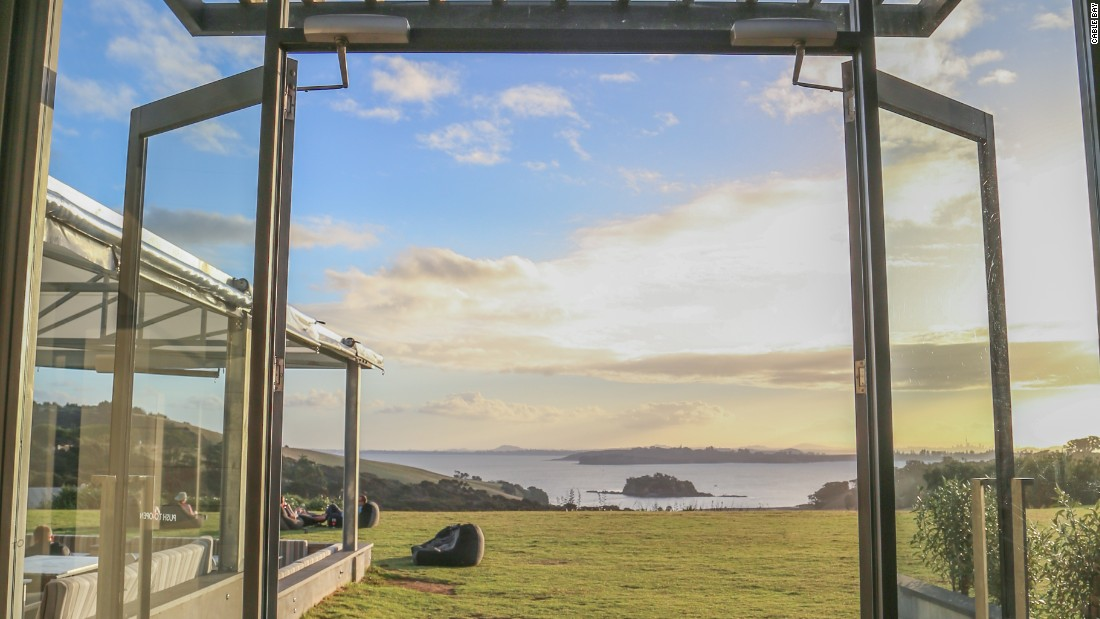 <strong>Cable Bay: </strong>The winery offers the perfect vantage point to lounge on a beanbag -- glass of wine in hand -- and gaze over the Hauraki Gulf.
