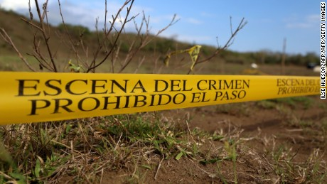 A view of mass graves on the outskirts of Veracruz city, Veracruz state, on March 16, 2017.  Over the past six months, Mexican authorities have found at least 242 bodies in clandestine graves discovered on the initiative of mothers whose children have disappeared in the violent state of Veracruz. / AFP PHOTO / ILSE HUESCA        (Photo credit should read ILSE HUESCA/AFP/Getty Images)