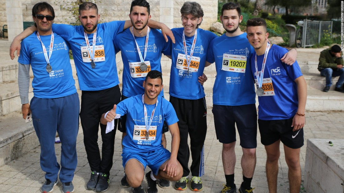 """We don't run for politics but for humanity,"" Haas, who competed in the 10 km race, told CNN. ""There is no difference between a Jew and an Arab."""