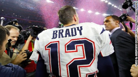 HOUSTON, TX - FEBRUARY 05:  Tom Brady #12 of the New England Patriots celebrates after defeating the Atlanta Falcons during Super Bowl 51 at NRG Stadium on February 5, 2017 in Houston, Texas.  The Patriots defeated the Falcons 34-28.  (Photo by Kevin C. Cox/Getty Images)