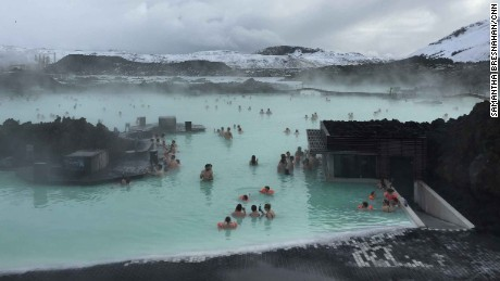 Tourists gather at the well-known Blue Lagoon, while locals are more likely to be found in a local neighborhood pool.