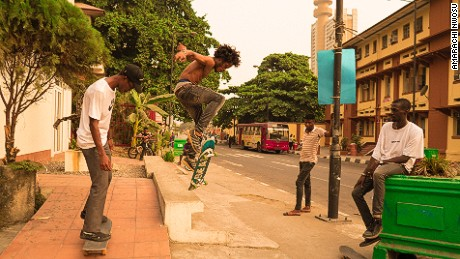 Lagos might seem like an unlikely place for skateboarding to take off. The megacity which boasts of an estimated population between 17 and 21 million, has no skate parks, few pavements and heavily congested roads. But WAFFLESNCREAM, a group of avid young skaters are taking to the streets to change this perception.