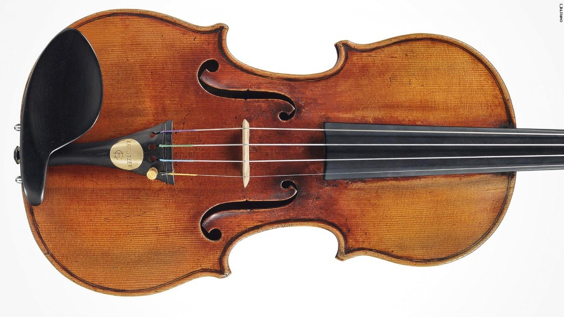"Similarly, the ""Kreutzer"" Stradivari, named after 18th-century French violinist French violinist Rodolphe Kreutzer, was expected to sell for up to $10 million in 2014, but failed to find a buyer."