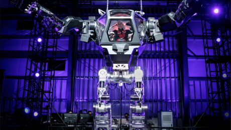 See Jeff Bezos test the giant robot of your nightmares