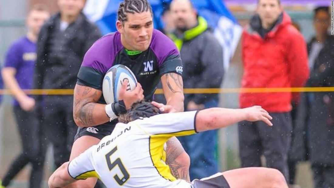 He's swapped sacking for try-scoring in a bid to become a professional rugby player.