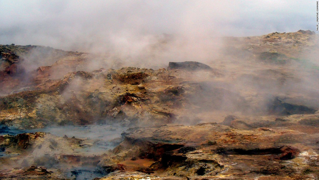 <strong>Unique geological formations: </strong>Reykjanes is home to many unique geological formations -- such as the geothermal area of Gunnuhver, where the ground is constantly erupting with boiling mud and hot steam wafts across silica hills.