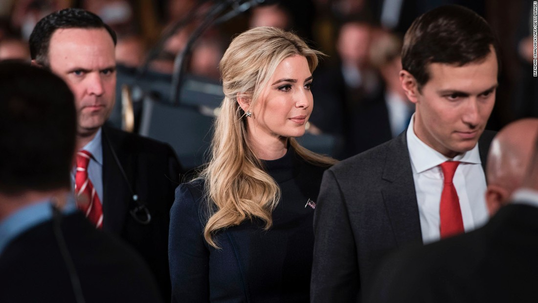 Ivanka Trump to get top security clearance and office, WH official says