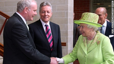 Historic moment McGuinness met Queen Elizabeth II