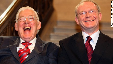 McGuinness and Paisley forged a close partnership and were known as the 'Chuckle Brothers'.