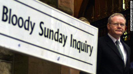 McGuinness gave evidence at the Bloody Sunday Inquiry in 2003.