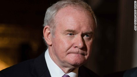 McGuinness stepped down from his role as Sinn Fein leader in the north in January 2017.