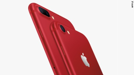 apple iphone 7 red closeup