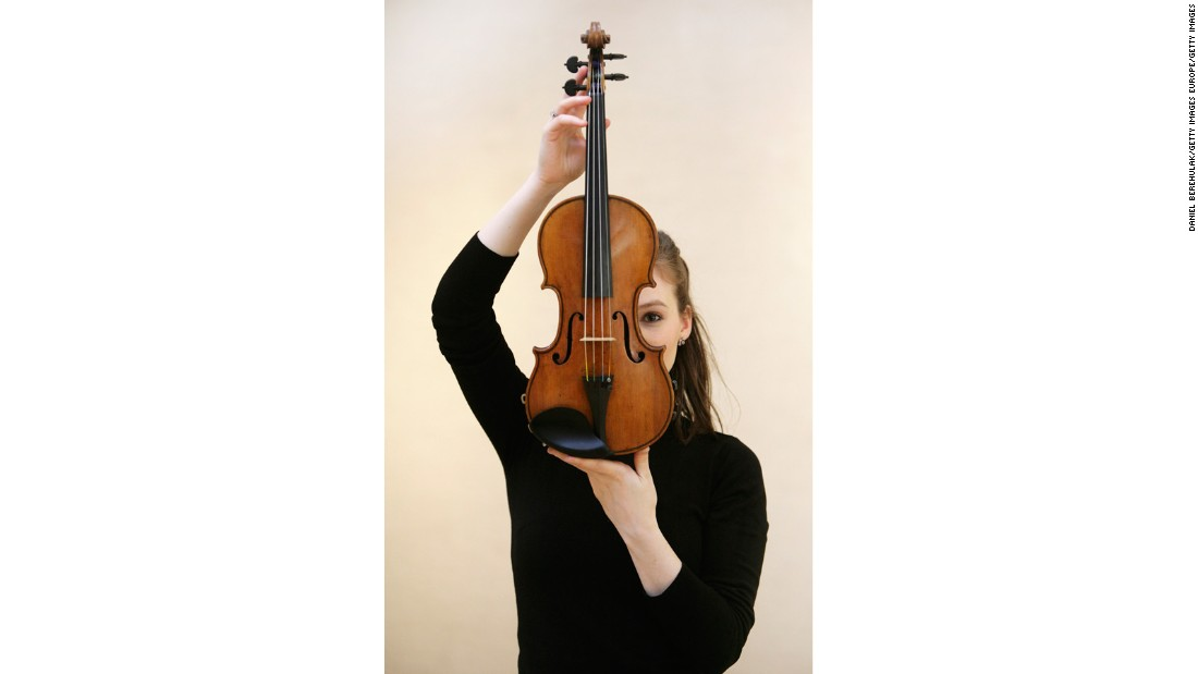 """The Penny"" Stradivari violin (held here by Royal Philharmonic Orchestra violinist Tamsin Waley-Cohen) sold for $1.2 million at a 2008 Christie's auction in London."