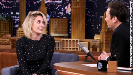 THE TONIGHT SHOW STARRING JIMMY FALLON -- Episode 0642 -- Pictured: (l-r) Actress Paris Jackson during an interview with host Jimmy Fallon on March 20, 2017 -- (Photo by: Andrew Lipovsky/NBC/NBCU Photo Bank via Getty Images))