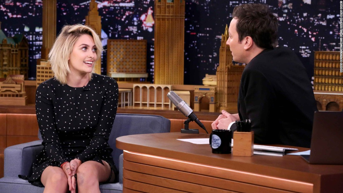 "Michael Jackson's daughter, Paris Jackson, broke out as a model and actress in 2017. She gave her first late night interview to ""Tonight Show"" host Jimmy Fallon in Larch."