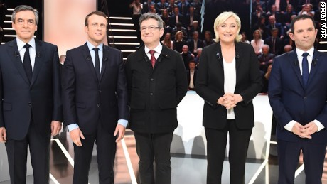 French presidential candidates spar in TV debate