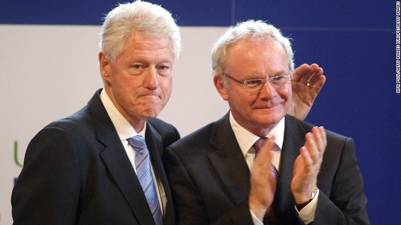 Both Bill and Hillary Clinton worked with McGuinness during their careers.