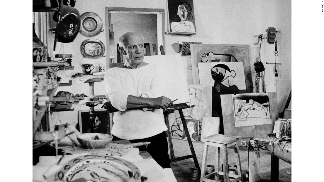 When an artist dies, it can be difficult to figure out how to handle their legacies and the works they've left behind. (Pictured: Pablo Picasso in his studio in Vallauris, France.)