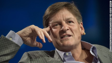 Author Michael Lewis speaks during the Skybridge Alternatives (SALT) conference in Las Vegas, Nevada, U.S., on Thursday, May 12, 2016. The SALT Conference facilitates balanced discussions and debates on macroeconomic trends, geopolitical events, and alternative investment opportunities within the context of a dynamic global economy. Photographer: David Paul Morris/Bloomberg via Getty Images