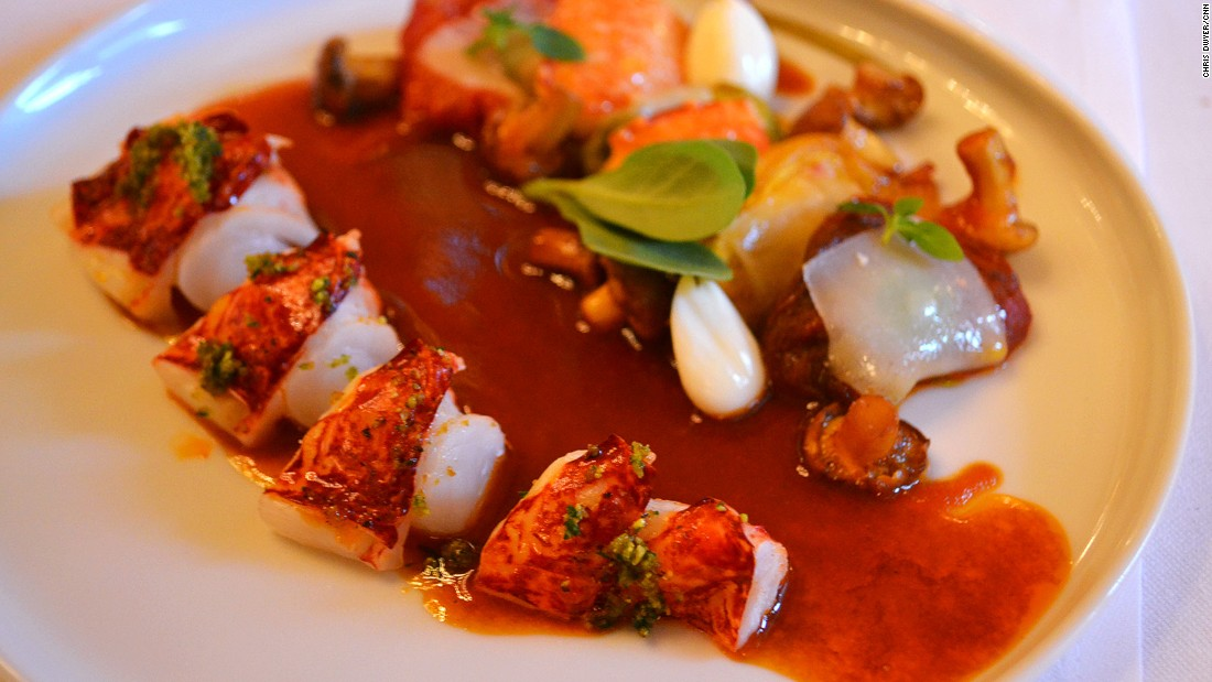 <strong>Lobster, girolles and tomatoes, Le Meurice Alain Ducasse: </strong>The perfectly balanced lobster, tomato and girolles mushrooms on the restaurant's lunch menu is a must-try.