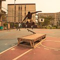 Skateboarding jump air Lagos