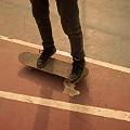 Shoes legs skateboard