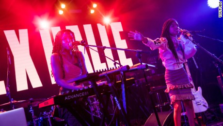 Chloe x Halle perform at the YouTube House @ Coppertank at the SXSW music festival in Austin, Texas on Friday March 17, 2017.