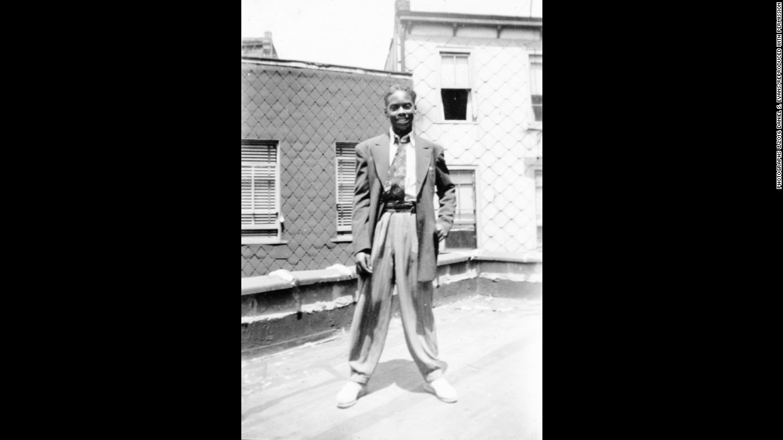 "Jewell Howell poses at Fitzpatrick's rooftop studio. Evans said everyone dressed up for photos back then, even the teenagers. ""And my mother was smart because she took a lot of photos on Sunday when they came from church,"" Evans said. ""She knew they would have their Sunday best clothing on."" Fitzpatrick's photos will be on display at the Smithsonian museum until January 2018."
