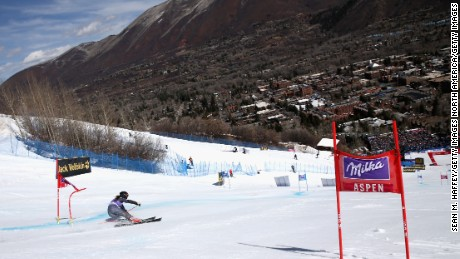Italy's Sofia Goggia competes in this year's Giant Slalom at Aspen