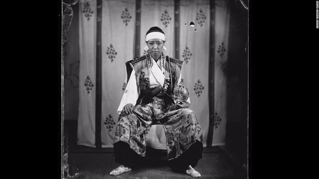 Photographer Everett Kennedy Brown used a 19th-century technique create portraits of modern-day descendents of samurai.
