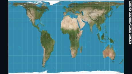 The Peters Projection Maps Areas In Their Actual Sizes Relative To Each Other But In