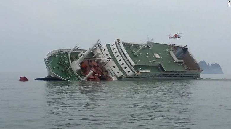 Korean ferry set to be loaded on transport vessel