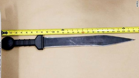 The murder weapon is believed to be this 26-inch knife