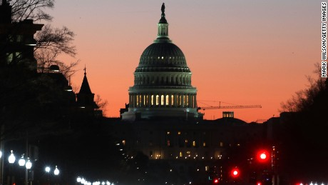 WASHINGTON, DC - MARCH 23: The early morning sun begins to rise behind the U.S. Capitol on March 23, 2017 in Washington, DC. House Republicans are trying to secure enough support to vote on repealing and replacing the Affordable Care Act or Obamacare.  (Photo by Mark Wilson/Getty Images)