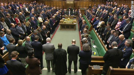Minute of silence at UK Parliament after attack