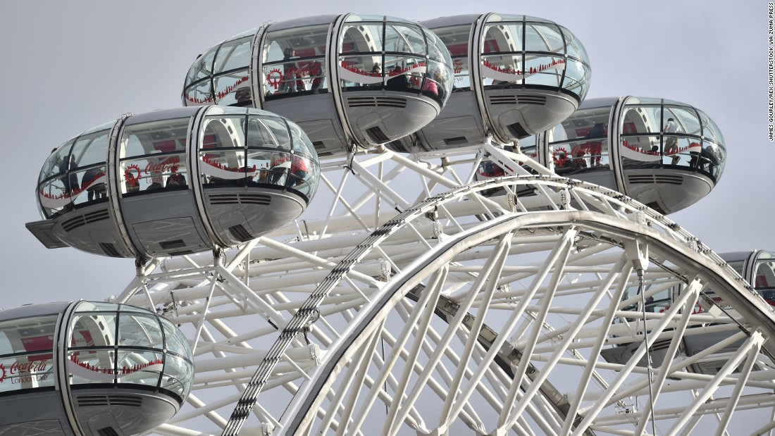 Tourists were trapped for a time in cars on the London Eye Ferris wheel, which was stopped in the immediate aftermath of the attack.