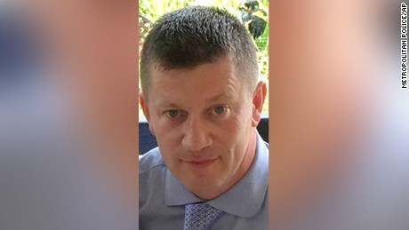 Police officer Keith Palmer was killed in the London attack, March 22, 2017.